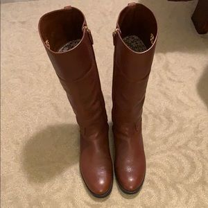 Tory Burch cognac leather riding boots 10.5
